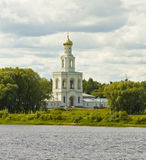 Saint George monastery, bell tower, Russia Royalty Free Stock Photo