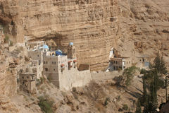 Saint George monastery in Judea desert Royalty Free Stock Image