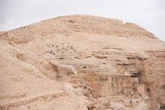 Saint George monastery in judean desert Stock Image