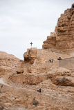 Saint George monastery in judean desert Stock Images