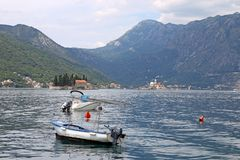 Saint George and Our Lady of the Rocks monastery Perast Stock Images