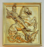 Saint George relief in church Royalty Free Stock Image
