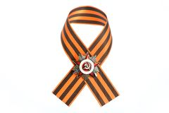 Saint George ribbon with order of great Patriotic  Royalty Free Stock Photo