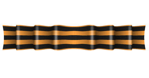 Saint George ribbon. Vector striped St George ribbon isolated on white background. Symbol of victory day May 9 Stock Photography