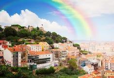 Saint George's Castle , Lisbon, Portugal Stock Images