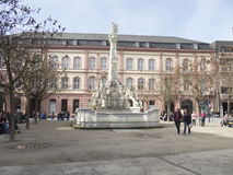 Saint George`s Fountain, Trier royalty free stock photo