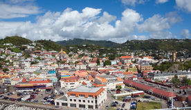 Saint George`s town - Grenada. Grenada tropical island - Saint George`s town Royalty Free Stock Image