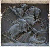 Saint George slaying the dragon Royalty Free Stock Photos