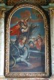 Saint George slaying the dragon Stock Photo