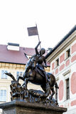 Saint George statue, Prague, Czech Stock Images