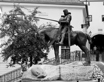 Saint George. Statue Saint George in Zagreb stock images