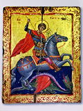 Saint George Victorious do ícone que mata o dragão Imagens de Stock