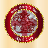 Saint Georges Day Button Royalty Free Stock Photography