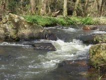 SAINT-GEORGES-DE-ROUELLEY La城河Arthour 免版税库存照片