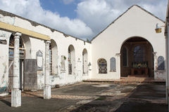 Saint Georges, Grenada, Caribbean. Ruin of the Anglican Church of Saint Georges. The church was destroyed during the hurican Ivan. Grenada, Caribbean Royalty Free Stock Photos