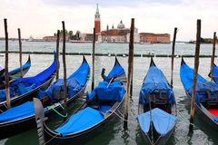 Saint Georgio Island and Gondola in Venice Royalty Free Stock Image