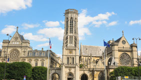 Saint Germain Auxerrois Church  in Paris Royalty Free Stock Photography