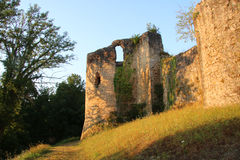 Saint-Germain-de-Confelons, Chateau, Early Morning. Royalty Free Stock Image