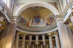 Abbey of Saint Germain en Laye, France. SAINT GERMAIN EN LAYE, FRANCE, APRIL 08,  2017 : interiors of the abbey, april 08, 2017, in Saint germain en Laye, France Royalty Free Stock Photo