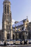 Saint Germain l`Auxerrois. A beautiful picture of this old church of Paris stock image