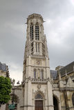 Saint Germain l'Auxerrois Church near Louvre Museum. Royalty Free Stock Images