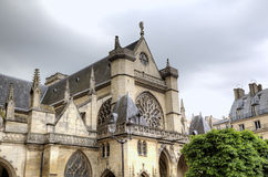 Saint Germain l'Auxerrois Church near Louvre Museum. Stock Image