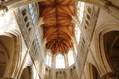 Saint Gervais church of Falaise in Normandie Royalty Free Stock Images