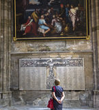 Saint Gervais Saint Protais da catedral em Soissons, França Imagens de Stock Royalty Free
