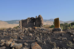 Saint Gevorg Church Kotayk, Armenia. 7th century building stock photography