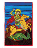 Saint gheorghe killing the dragon Royalty Free Stock Images