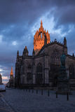 Saint Giles' Cathedral at the dusk Royalty Free Stock Image
