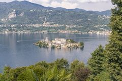 Saint Giulio isle royalty free stock images