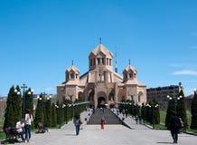 Saint Gregory la cathédrale de bloc d'éclairage Image libre de droits
