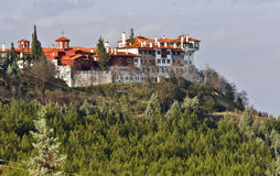 Saint Grigorios monastery in Greece Stock Image