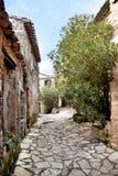 Saint-Guilhem-le-désert Vila medieval francesa Sul de france Patrimônio mundial do Unesco Foto de Stock Royalty Free