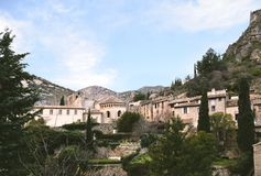 Saint-Guilhem-le-désert. French medieval village. South of France. UNESCO world heritage. Stock Photography