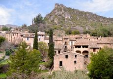 Saint-Guilhem-le-désert. French medieval village. South of France. UNESCO world heritage. Royalty Free Stock Photography