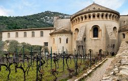 Saint-Guilhem-le-désert. Gellone abbey. French medieval village. South of France. UNESCO world heritage. Saint-Guilhem-le-désert. Gellone abbey. French stock photos