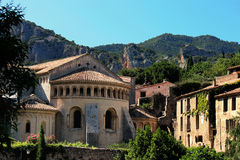 Saint Guilhem le desert church stock photography