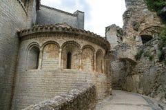 Saint-Guilhem-le-Desert (France). Saint-Guilhem-le-Desert (Herault, Languedoc-Roussillon, France): typical buildings of the medieval village royalty free stock images