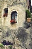 Saint-Guilhem-le-Desert (France). Saint-Guilhem-le-Desert (Herault, Languedoc-Roussillon, France): typical buildings of the medieval village stock images