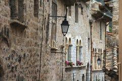 Saint-Guilhem-le-Desert (France). Saint-Guilhem-le-Desert (Herault, Languedoc-Roussillon, France): typical buildings of the medieval village royalty free stock photo