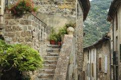 Saint-Guilhem-le-Desert (France). Saint-Guilhem-le-Desert (Herault, Languedoc-Roussillon, France): typical buildings of the medieval village royalty free stock photography