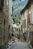 Saint-Guilhem-le-Desert (France). Saint-Guilhem-le-Desert (Herault, Languedoc-Roussillon, France): typical buildings of the medieval village stock photos