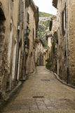 Saint Guilhem le desert street Royalty Free Stock Photos