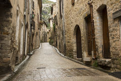 Saint Guilhem le desert street Stock Photo
