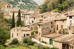 Saint Guilhem le Desert village Royalty Free Stock Photos