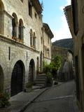 Saint-guilhem-le-desert, a village in herault, languedoc, france stock photo
