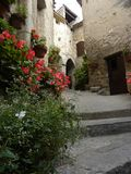 Saint-guilhem-le-desert, a village in herault, languedoc, france royalty free stock photos