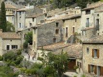 Saint-guilhem-le-desert, a village in herault, languedoc, france. Saint-guilhem-le-desert, a village in herault, a department of the region Languedoc, france stock image